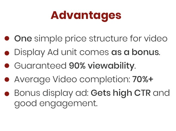 vidsplay advantages